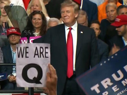 Donald-Trump-appears-to-be-a-Q-fan