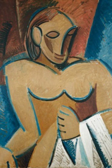 Pablo-Picasso-1907-Nu-a-la-serviette